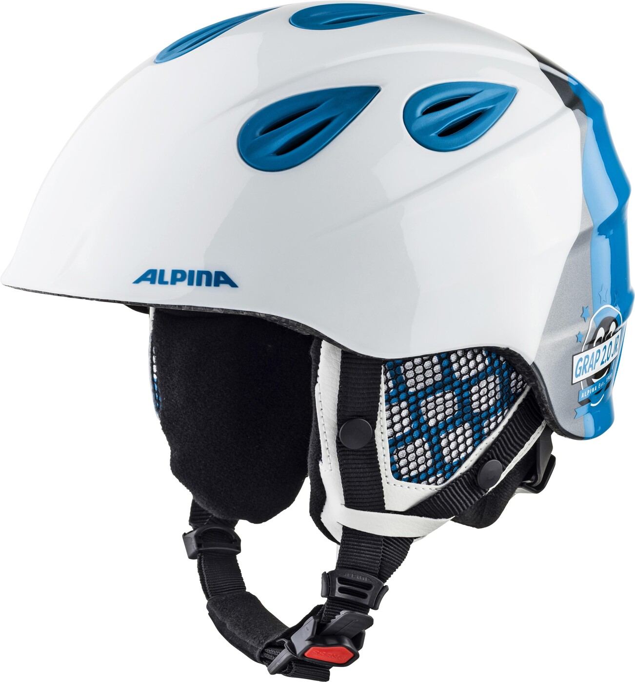 ALPINA Grap 2.0 Jr. blue-neon-yellow 54-57