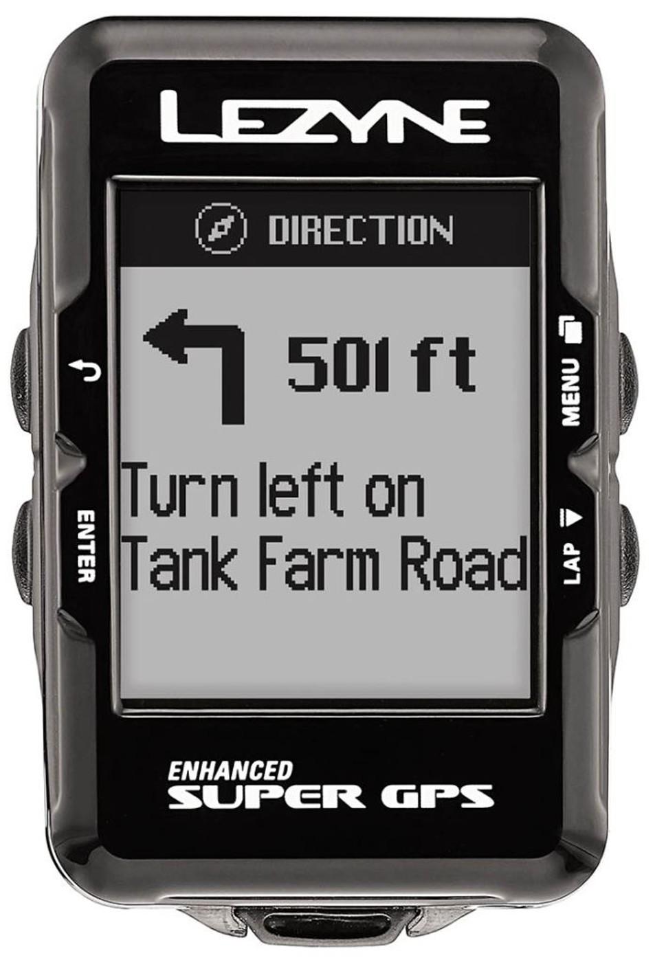LEZYNE Radcomputer SUPER GPS HR schwarz