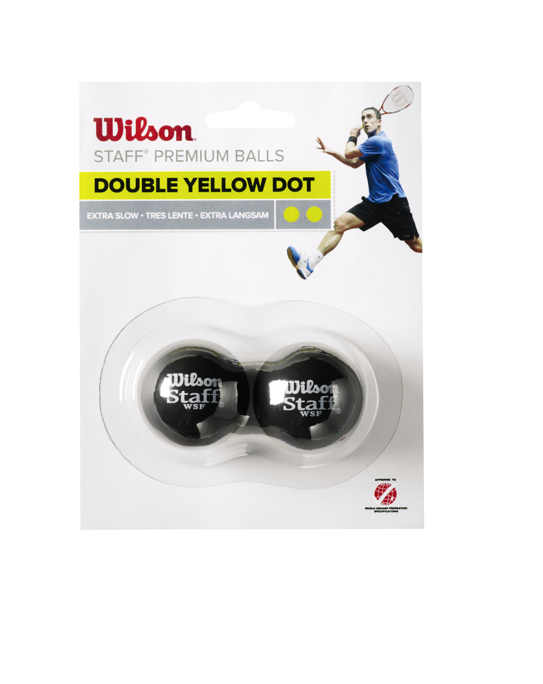 WILSON STAFF SQUASH 2 BALL DBL YE DOT