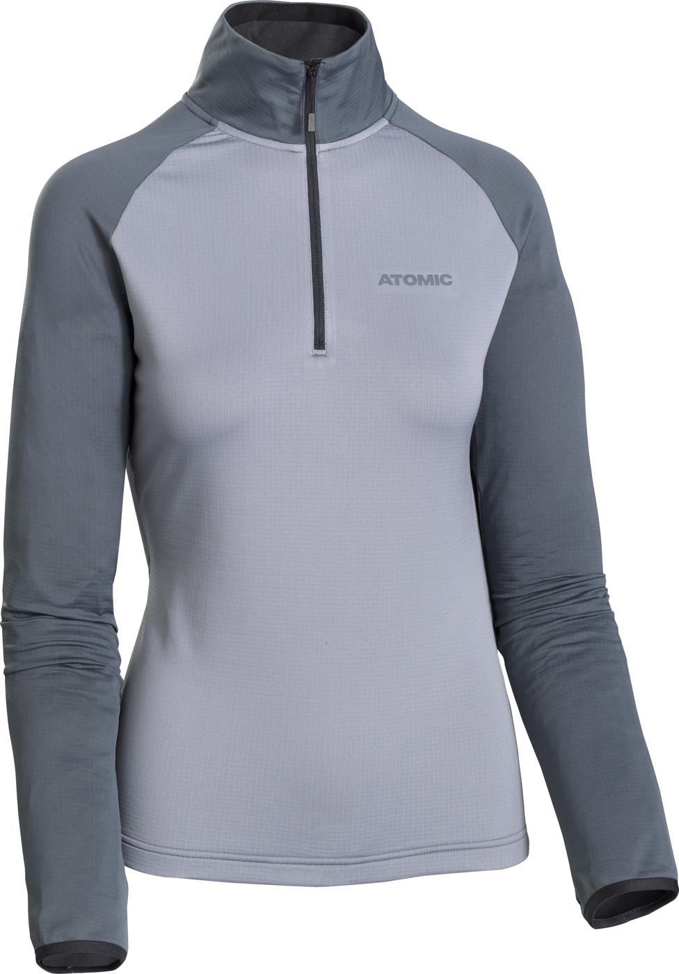 ATOMIC W SAVOR FLEECE ZIP-NECK Grey/BLUISH GREY M - Damen