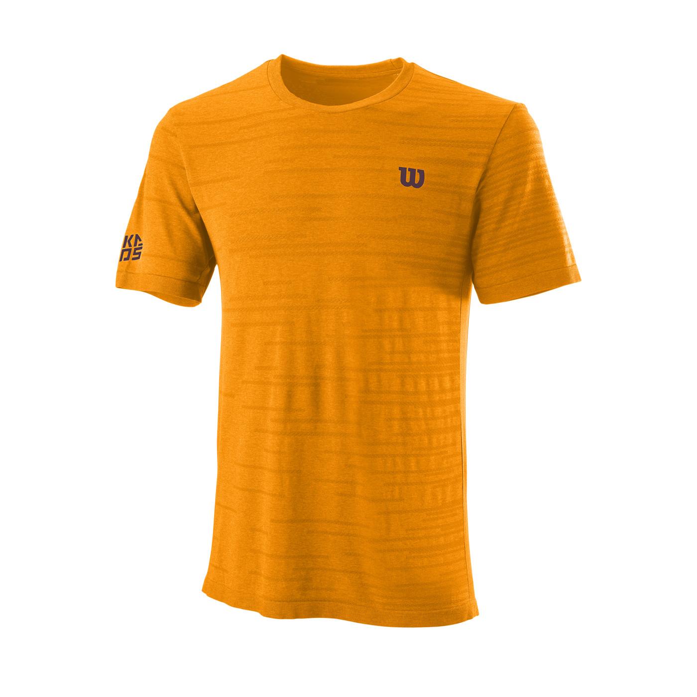 WILSON M KAOS RAPIDE SMLS CREW Koi Orange XL - Herren