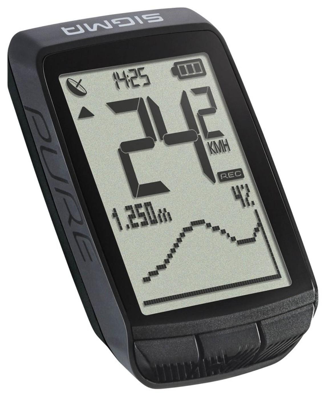 SIGMA Radcomputer PURE GPS schwarz